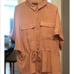 Oversized button up flowy top